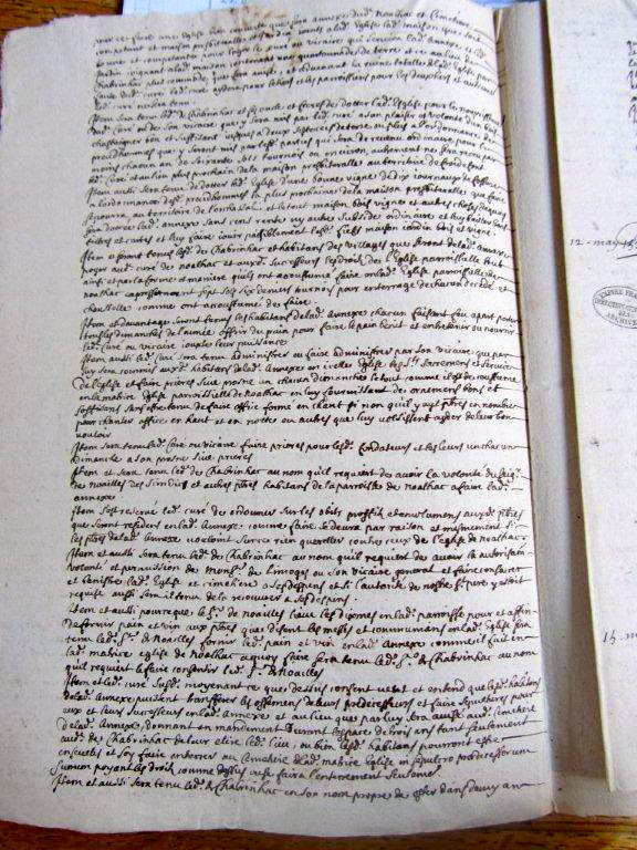 Vidimus du concordat 1538 (Archives Nationales Paris)